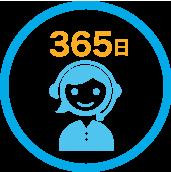 365日受付のカスタマーサポート