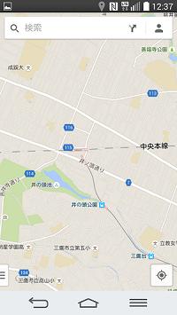 井の頭公園付近の地図