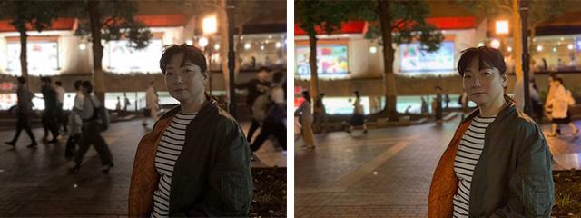 iPhone Xs、iPhone Xのポートレートモードで人物を撮影し比較