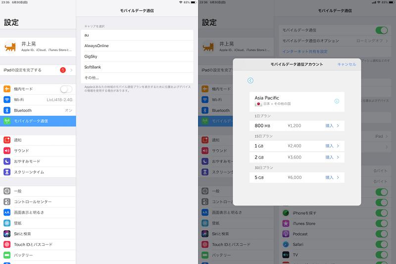 iPad AirはeSIMにも対応