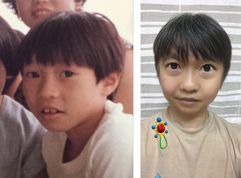 自分の子ども時代の写真と比較してみた
