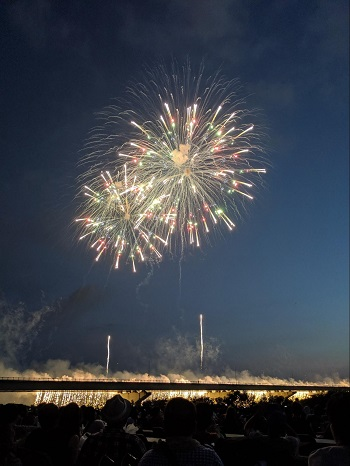 Pixel 3の夜景モードで撮影した花火