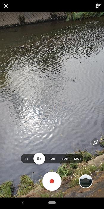Pixel 3のタイムラスプ撮影画面