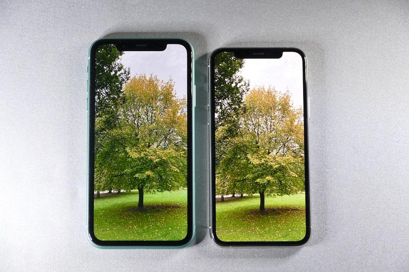 iPhone 11と11 Proのディスプレイ比較