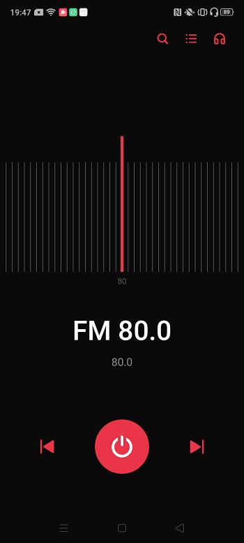 OPPO A5 2020でFMラジオが視聴できる