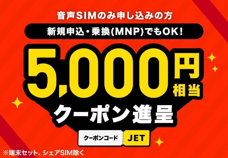 新規申込でも乗り換え(MNP)でも利用OK!3,000Gポイント進呈