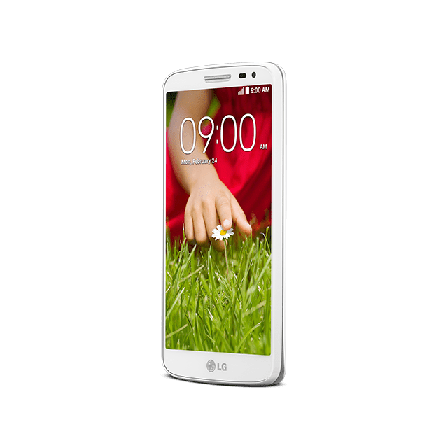 LG G2 mini for BIGLOBE ホワイト angled
