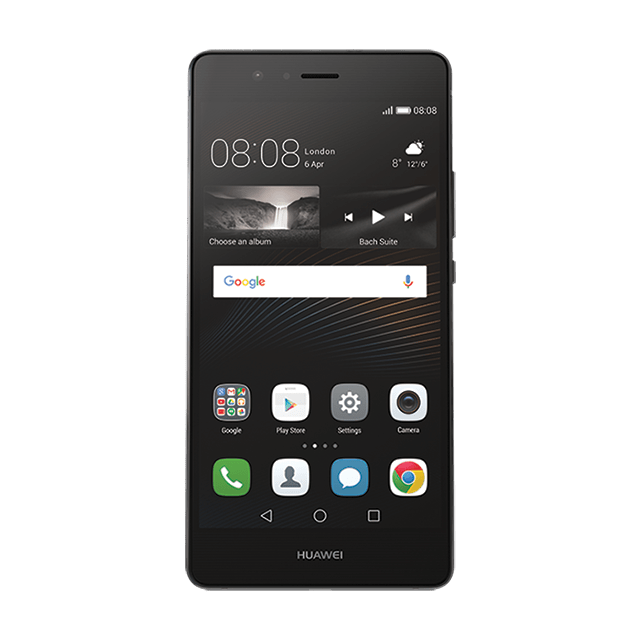 HUAWEI P9 lite ブラック frontサムネイル