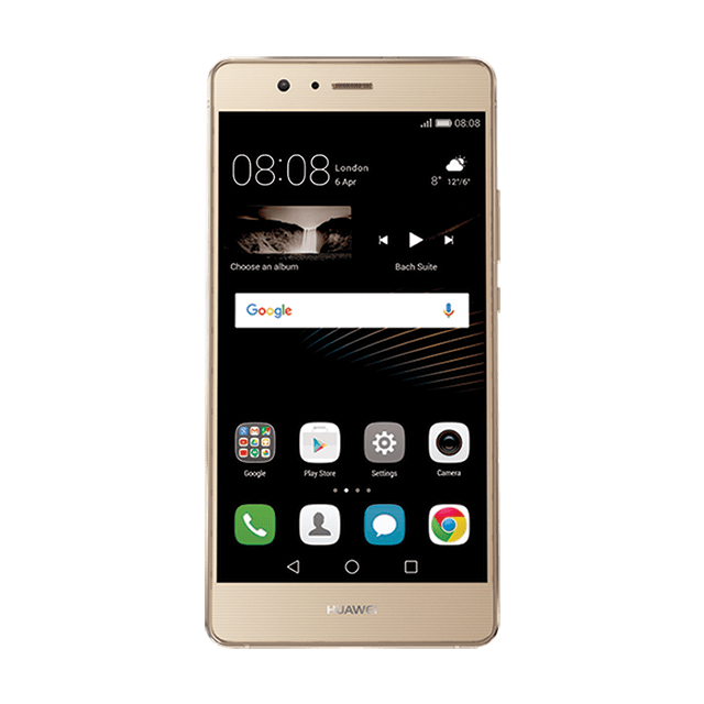 HUAWEI P9 lite ゴールド frontサムネイル
