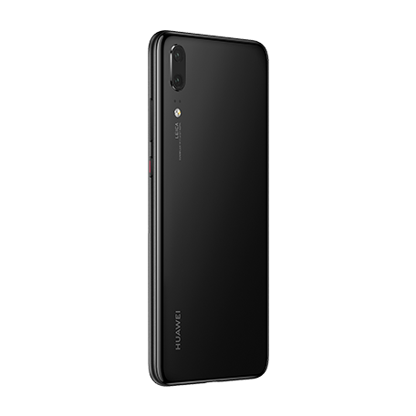 HUAWEI P20 ブラック angled-backサムネイル