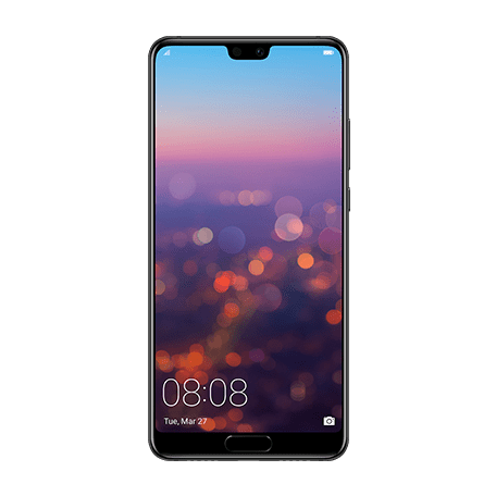 HUAWEI P20 ブラック front