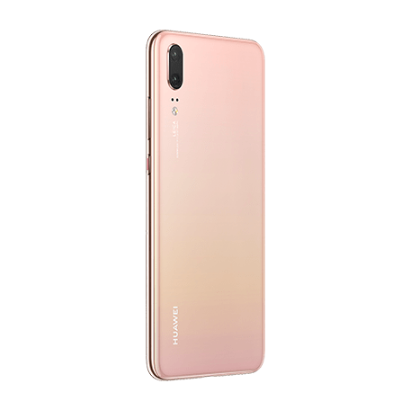 HUAWEI P20 ピンクゴールド angled-backサムネイル