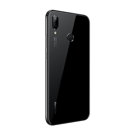 HUAWEI P20 lite ブラック angled-backサムネイル