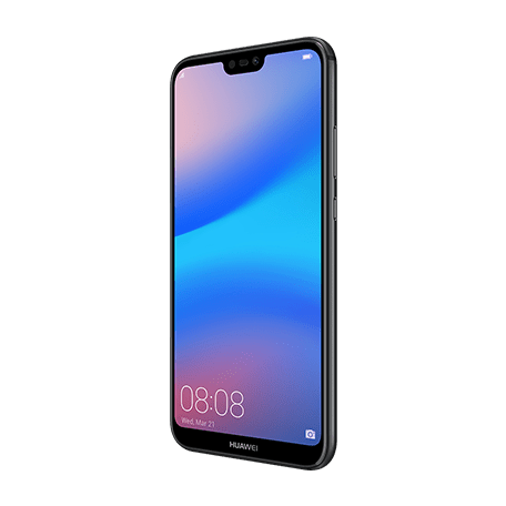 HUAWEI P20 lite ブラック angledサムネイル