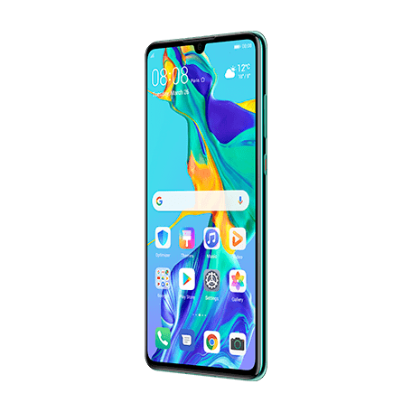 HUAWEI P30 オーロラ angledサムネイル