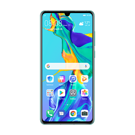 HUAWEI P30 オーロラ front