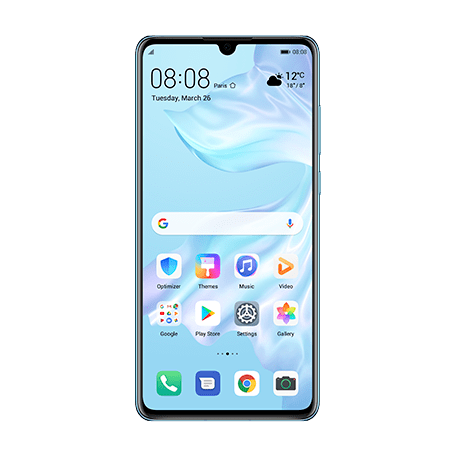 HUAWEI P30 クリスタル front