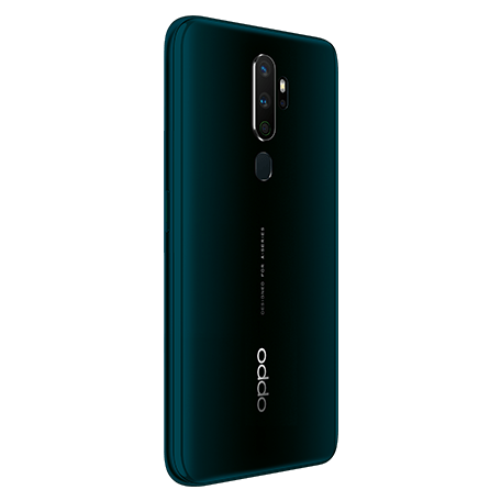 OPPO A5 2020 グリーン angled-backサムネイル