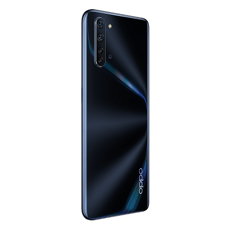 OPPO Reno3 A ブラック angled-backサムネイル
