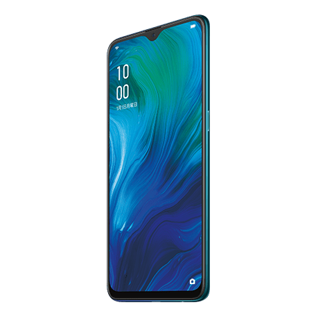 OPPO Reno A ブルー angled
