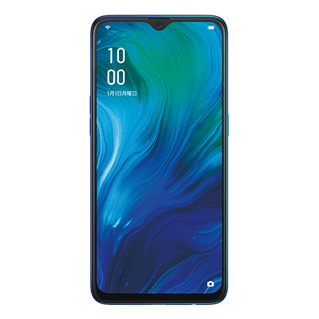 OPPO Reno A ブルー front