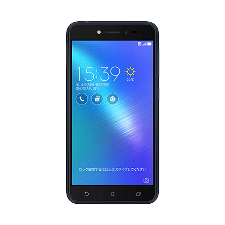 ZenFone Live (ZB501KL) ブラック frontサムネイル