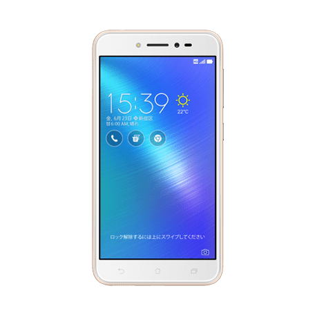 ZenFone Live (ZB501KL) ゴールド frontサムネイル